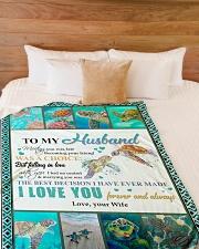 "To My Husband  Large Fleece Blanket - 60"" x 80"" aos-coral-fleece-blanket-60x80-lifestyle-front-02"