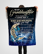 """Blanket To My Granddaughter Small Fleece Blanket - 30"""" x 40"""" aos-coral-fleece-blanket-30x40-lifestyle-front-14"""