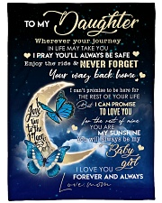 """To My Daughter - Mom Large Fleece Blanket - 60"""" x 80"""" front"""