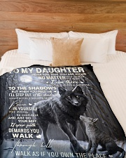 """To My Daughter - Father Large Fleece Blanket - 60"""" x 80"""" aos-coral-fleece-blanket-60x80-lifestyle-front-02"""