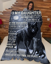"""To My Daughter - Father Large Fleece Blanket - 60"""" x 80"""" aos-coral-fleece-blanket-60x80-lifestyle-front-04"""