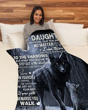 """To My Daughter - Father Large Fleece Blanket - 60"""" x 80"""" aos-coral-fleece-blanket-60x80-lifestyle-front-05"""