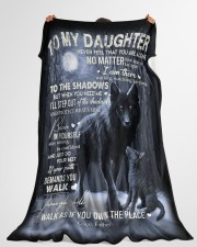 """To My Daughter - Father Large Fleece Blanket - 60"""" x 80"""" aos-coral-fleece-blanket-60x80-lifestyle-front-10"""
