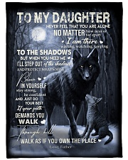 """To My Daughter - Father Large Fleece Blanket - 60"""" x 80"""" front"""