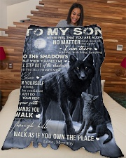 """To My Son - Mommy Large Fleece Blanket - 60"""" x 80"""" aos-coral-fleece-blanket-60x80-lifestyle-front-04"""