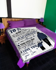 """To My Dad - Son  Large Fleece Blanket - 60"""" x 80"""" aos-coral-fleece-blanket-60x80-lifestyle-front-01"""