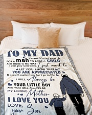 """To My Dad - Son  Large Fleece Blanket - 60"""" x 80"""" aos-coral-fleece-blanket-60x80-lifestyle-front-02"""