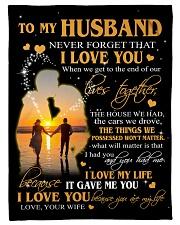 To My Husband  Fleece Blanket tile