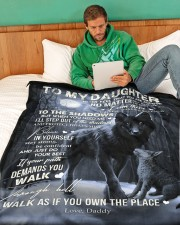 """To My Daughter - Daddy Large Fleece Blanket - 60"""" x 80"""" aos-coral-fleece-blanket-60x80-lifestyle-front-06"""