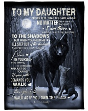 """To My Daughter - Daddy Large Fleece Blanket - 60"""" x 80"""" front"""