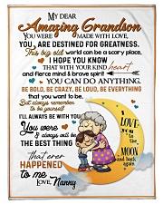 To My Grandson - Nanny Fleece Blanket tile