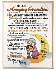 "To My Grandson - Nanny Large Fleece Blanket - 60"" x 80"" front"