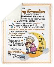 """To My Grandson - Nanny Sherpa Fleece Blanket - 50"""" x 60"""" thumbnail"""