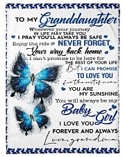 To My Granddaughter-Grandma Fleece Blanket tile