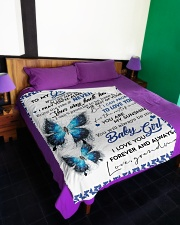 "To My Granddaughter-Grandma Large Fleece Blanket - 60"" x 80"" aos-coral-fleece-blanket-60x80-lifestyle-front-01"