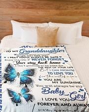 "To My Granddaughter-Grandma Large Fleece Blanket - 60"" x 80"" aos-coral-fleece-blanket-60x80-lifestyle-front-02"