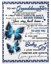 "To My Granddaughter-Grandma Large Fleece Blanket - 60"" x 80"" front"