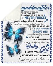 To My Granddaughter-Grandma Sherpa Fleece Blanket tile
