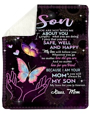 "To My Son - Mom Sherpa Fleece Blanket - 50"" x 60"" thumbnail"