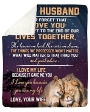 To My Husband  Sherpa Fleece Blanket tile