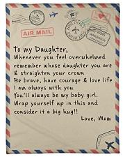 To My Daughter - Mom Fleece Blanket tile