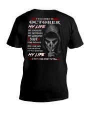 October My Life V-Neck T-Shirt thumbnail