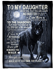 """To My Daughter- mom Large Fleece Blanket - 60"""" x 80"""" front"""