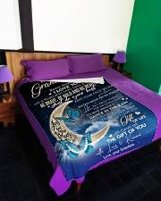 "To My Granddaughter - Grandma Large Fleece Blanket - 60"" x 80"" aos-coral-fleece-blanket-60x80-lifestyle-front-01"