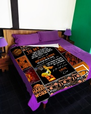 """To My Son - Dad Large Fleece Blanket - 60"""" x 80"""" aos-coral-fleece-blanket-60x80-lifestyle-front-01"""