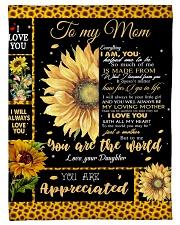 To My Mom - Daughter Fleece Blanket tile