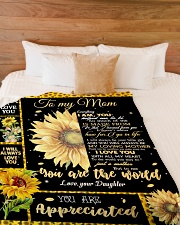 """To My Mom - Daughter Large Fleece Blanket - 60"""" x 80"""" aos-coral-fleece-blanket-60x80-lifestyle-front-02"""