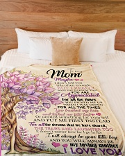 "To My Mom - Son Large Fleece Blanket - 60"" x 80"" aos-coral-fleece-blanket-60x80-lifestyle-front-02"