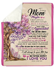 "To My Mom - Son Sherpa Fleece Blanket - 50"" x 60"" thumbnail"