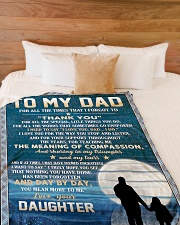 """To My Dad - Daughter Large Fleece Blanket - 60"""" x 80"""" aos-coral-fleece-blanket-60x80-lifestyle-front-02"""
