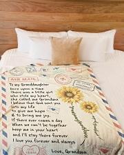 "To My Granddaughter - Grandma Large Fleece Blanket - 60"" x 80"" aos-coral-fleece-blanket-60x80-lifestyle-front-02"