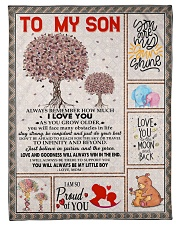 To My Son - Mom Fleece Blanket tile
