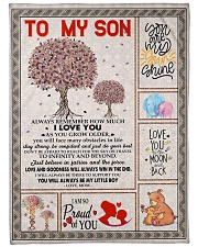 "To My Son - Mom Large Fleece Blanket - 60"" x 80"" front"