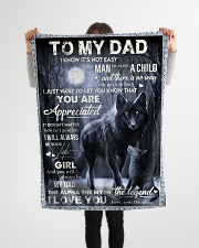 """Blanket To My Dad Small Fleece Blanket - 30"""" x 40"""" aos-coral-fleece-blanket-30x40-lifestyle-front-14"""