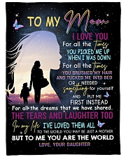 """To My Mom - Daughter Large Fleece Blanket - 60"""" x 80"""" front"""