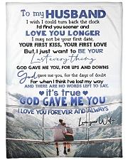"To My Husband  Large Fleece Blanket - 60"" x 80"" front"