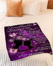 "To Granddaughter - Grandma Small Fleece Blanket - 30"" x 40"" aos-coral-fleece-blanket-30x40-lifestyle-front-01"