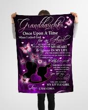"To Granddaughter - Grandma Small Fleece Blanket - 30"" x 40"" aos-coral-fleece-blanket-30x40-lifestyle-front-14"
