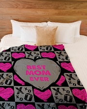 "Best Mom Ever  Large Fleece Blanket - 60"" x 80"" aos-coral-fleece-blanket-60x80-lifestyle-front-02"