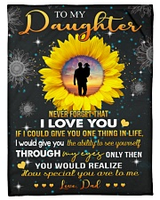 """To My Daughter - Dad Small Fleece Blanket - 30"""" x 40"""" front"""