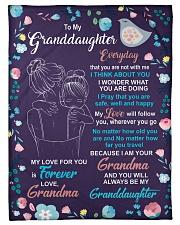 To My Granddaughter - Grandma Fleece Blanket tile