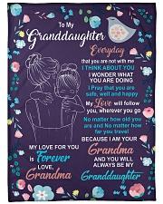 "To My Granddaughter - Grandma Large Fleece Blanket - 60"" x 80"" front"