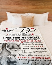 """To My Dad  Large Fleece Blanket - 60"""" x 80"""" aos-coral-fleece-blanket-60x80-lifestyle-front-02"""