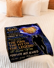 """Blanket To My Dad Small Fleece Blanket - 30"""" x 40"""" aos-coral-fleece-blanket-30x40-lifestyle-front-01"""