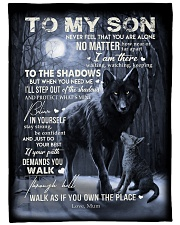 """To My Son - Mum Large Fleece Blanket - 60"""" x 80"""" front"""