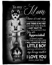 """To My Mom - Son Large Fleece Blanket - 60"""" x 80"""" front"""